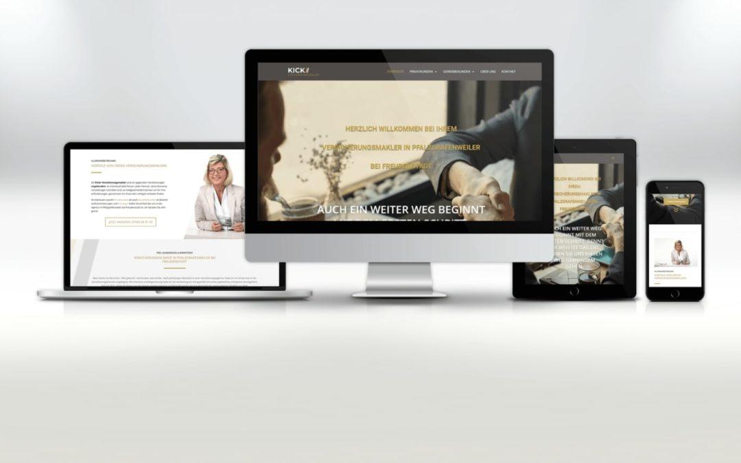 Webdesign Kick Versicherungsmakler