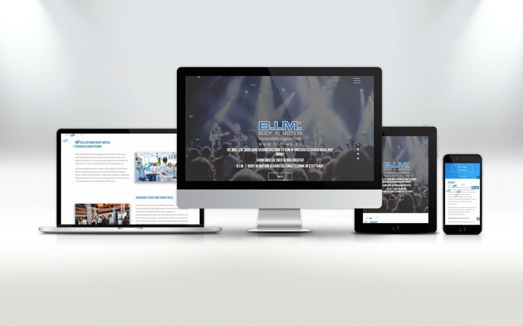 Webdesign BIM