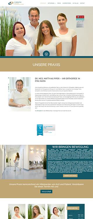 Webdesign Orthopädie Esslingen