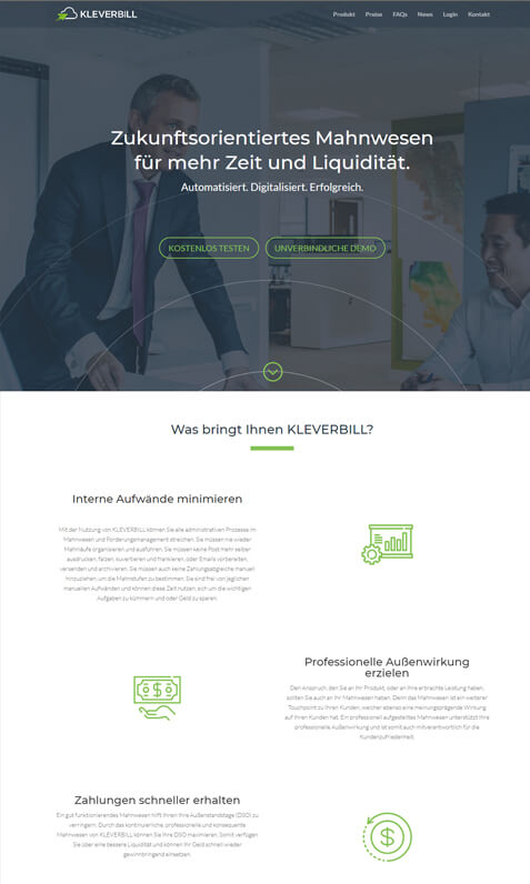 Webdesign Kleverbill