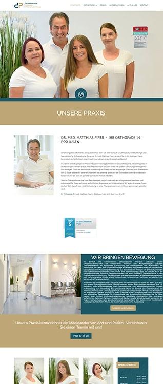 WordPress Seite Dr. Matthias Piper